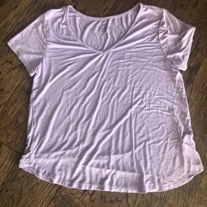Lilac colored Rue 21 tee